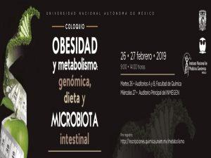 Obesidad y metabolismo: genómica, dieta y microbiota intestinal @ Auditorios A y B, Facultad de Química | Ciudad de México | Ciudad de México | México