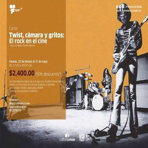TWIST, CÁMARA Y GRITOS: EL ROCK EN EL CINE @ Filmoteca UNAM, Aula Manuel González | Ciudad de México | Ciudad de México | México