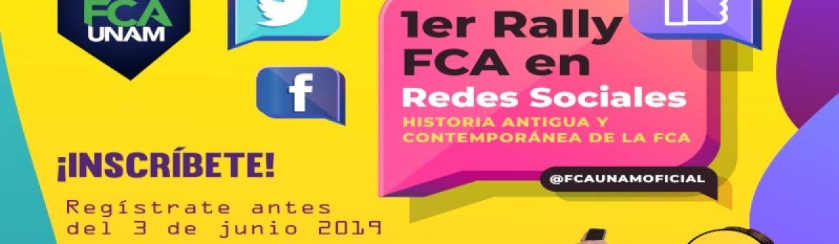 1er Rally FCA en redes sociales