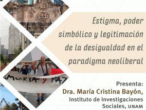 Estigma, poder simbólico y legitimación de la desigualdad en el paradigma neoliberal @ Anexo del Auditorio del Instituto de Investigaciones Sociales | Ciudad de México | México