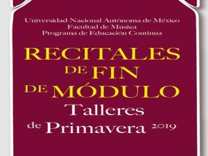 Recital de Fin de Modulo @ Facultad de Música UNAM | Ciudad de México | Ciudad de México | México
