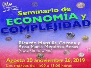 Seminario Economía y Complejidad @ Auditorio Rolando García, CEIICH | Ciudad de México | Ciudad de México | México
