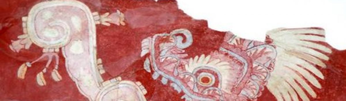 Pintura mural teotihuacana, Estado de México.