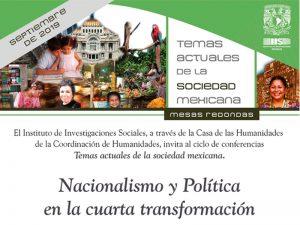 Nacionalismo y Política en la cuarta transformación @ Casa de las Humanidades de la UNAM | Ciudad de México | Ciudad de México | México